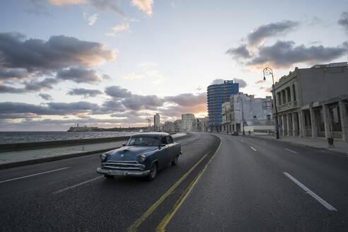 Vintage car on the street at Malecon, Havana, Cuba - PAF01941