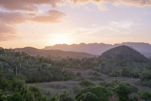 Scenics of Valle de Vinales at sunset, Pinar del Rio, Cuba - PAF01959