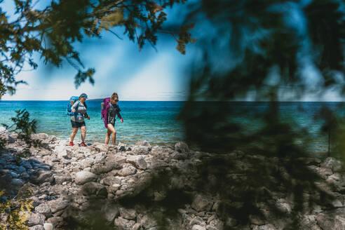 Hiking Lakeside Near Tobermory Ontario - CAVF76014