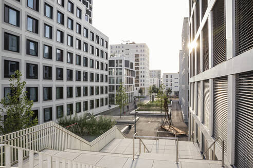 Modern high-rise residential building in Munich, Germany - MAMF01226