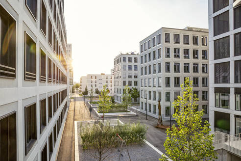 Modern high-rise residential building in Munich, Germany - MAMF01232
