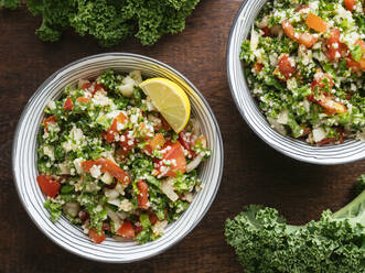 Variation of traditional tabbouleh salad with kale instead of parsley - HAWF01018