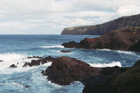 Rocky coastline, Sao Miguel Island, Azores, Portugal - AFVF05694