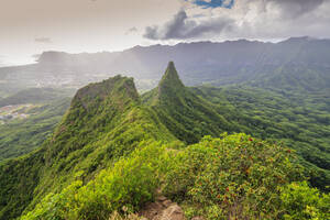 Three Peaks trail, Oahu Island, Hawaii, United States of America, North America - RHPLF14144