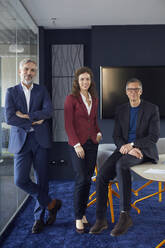 Portrait of confident business team in office - RBF07148