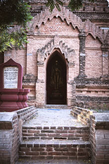 Entrance of a Small Buddhist Temple in Bagan, Myanmar - CAVF77172