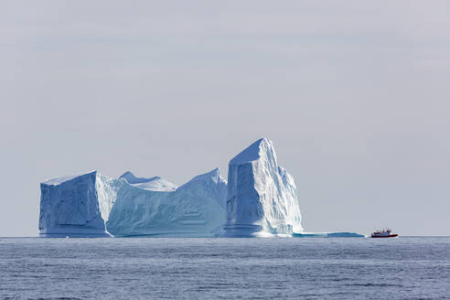 Majestic iceberg formations on sunny blue Atlantic Ocean Greenland - HOXF05416