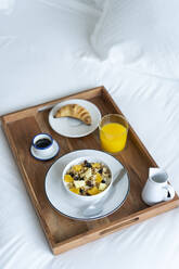 Breakfast tray on bed - AFVF05812