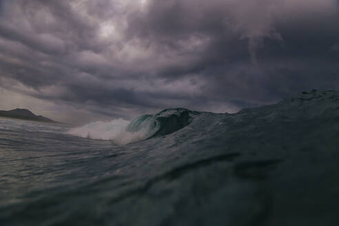 Wave at rain time, Sumbawa, Indonesia - KNTF04515