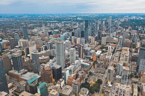 Aerial view of colourful highrisers in Toronto, Canada - AAEF07478