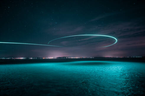 Scenic View Of Sea Against Sky At Night - EYF02613