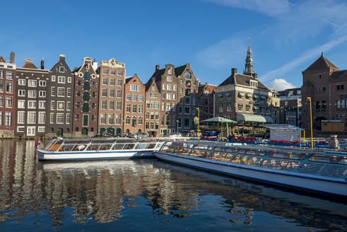 Hafen, Damrak, Amsterdam, Provinz Nordholland, Niederlande,Amsterdam, Provinz Nordholland, Niederlande, - LBF03033