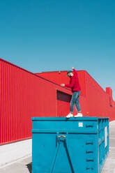 sevilla, Spain, container, urban, industrial, outdoor, minimal, youth, freedom, fun, color - ERRF03136