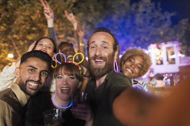 Selfie point of view happy friends enjoying party - CAIF26034