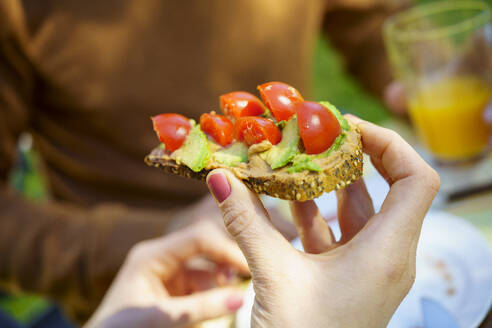 Vegan bread with avocado and cherry tomatoes - VSMF00105