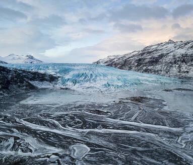 Iceland, Frozen landscape of Flaajokull glacier - TOVF00164