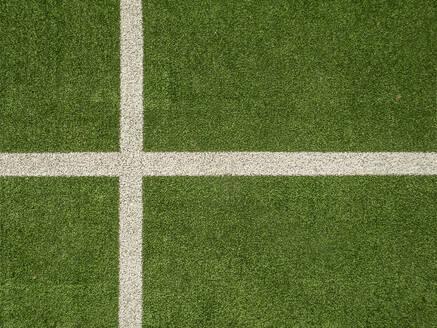 Spain, Aerial view of soccer field - JMF00492