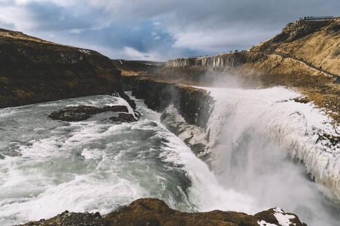Iceland, Gullfoss waterfall in summer - DAMF00364