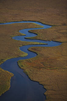 Aerial picture of meandering river in Iceland - CAVF81255