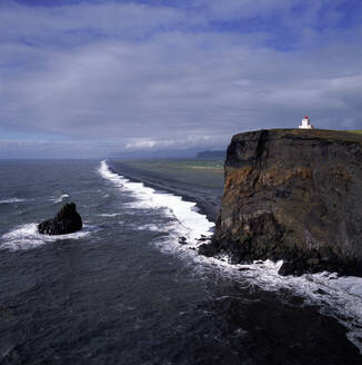 The lighthouse at Dyrhólaey cliff in the south of Iceland - CAVF81492