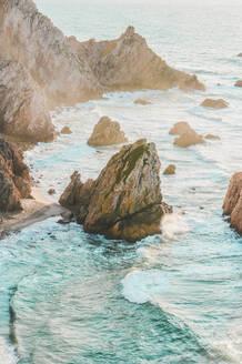 Rock formations at Ursa Beach, Lisboa Region, Portugal - FVSF00317