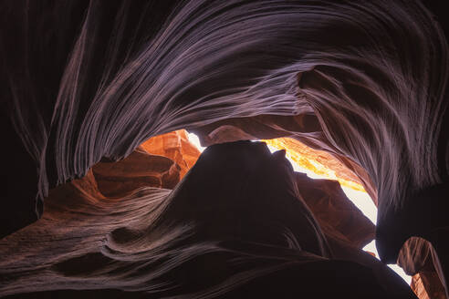 Inside of Antelope Canyon, color and textures - CAVF83543