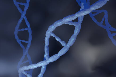 3D rendered illustration, visualization of DNA double Helix which carry genes of biological organism - SPCF00670