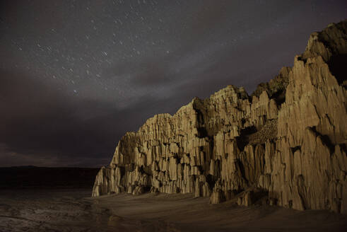 Light Painting at Cathedral Gorge under a Starry Sky - CAVF83727