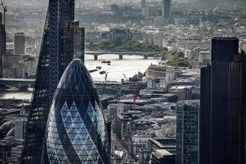 Aerial view of City of London, London, England, UK - CUF55506