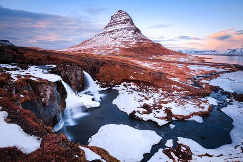 Frozen Lake By Mountain Against Sky - EYF05049