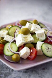 Bowl of ready-to-eat Greek salad - GIOF08370