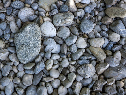 Close up of pebbles in different forms and shapes - EJWF00916