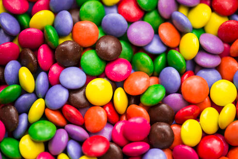 Full Frame Shot Of Multi Colored Chocolate Candies - EYF06980