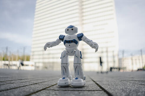 Mini robot on a square in the city - JOSEF00867