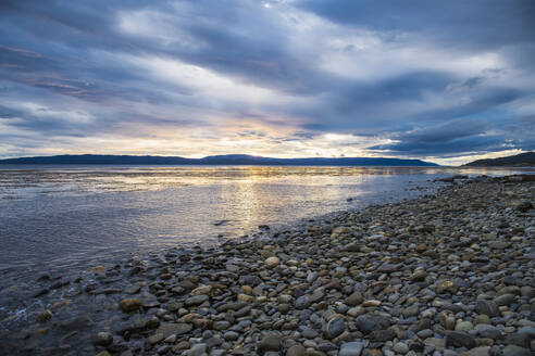 Sunset over the Beagle Channel, Tierra del Fuego, Argentina - CAVF86127