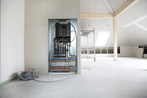 Electrical equipment in house under construction - MJFKF00379