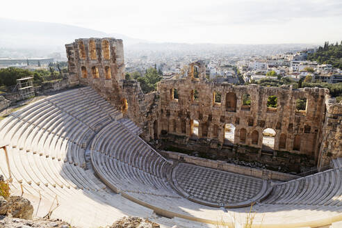 The Odeon of Herodes Atticus, a 2nd century theatre by the foot of the Acropolis, UNESCO World Heritage Site, Athens, Greece, Europe - RHPLF16112
