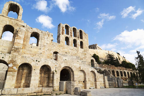 Facade of the Odeon of Herodes Atticus, a 2nd century theatre by the foot of the Acropolis, UNESCO World Heritage Site, Athens, Greece, Europe - RHPLF16115