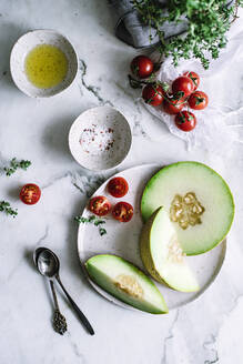 Healthy fruit on plate - ADSF04452