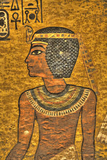 Young King Tut, Tomb of Tutankhamun, KV62, Valley of the Kings, UNESCO World Heritage Site, Luxor, Thebes, Egypt, North Africa, Africa - RHPLF16777