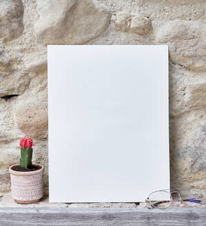 Blank sheet on the table - ADSF10362