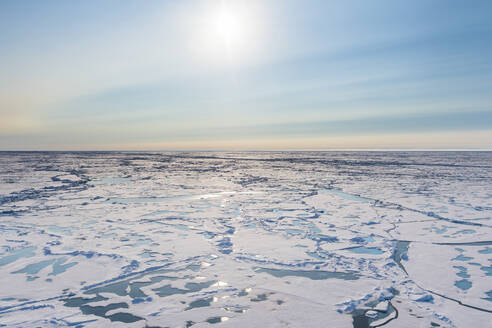 Aerial view of melting ice on North Pole - RUNF04140