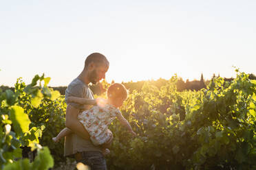 Father and daughter in the vineyards - GEMF04112