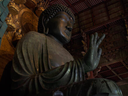 Statue of Buddha in traditional temple - ADSF14377