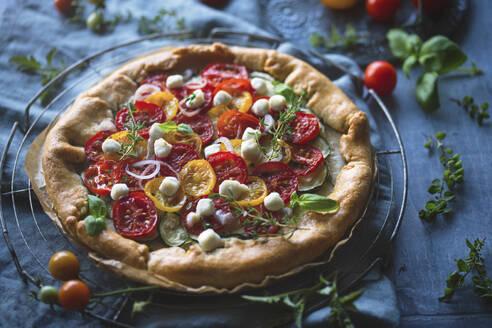 Tomato mozzarella zucchini galette - CAIF29492