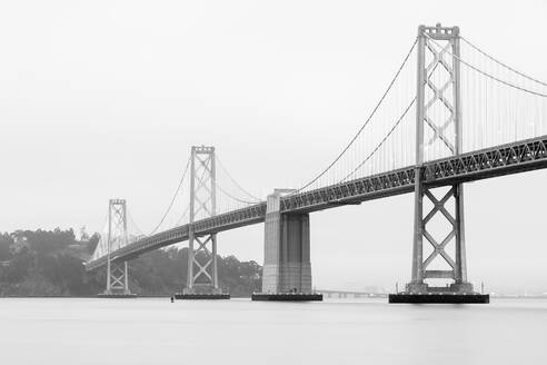 Long exposure of Oakland Bay Bridge at San Francisco, California, USA - AHF00110