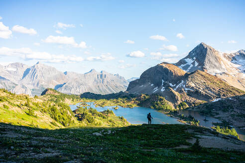 Silhouette of a Hiker During Sunset in Height of the Rockies - CAVF90107