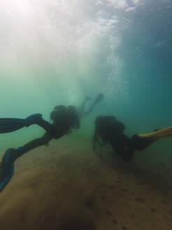 Divers swimming underwater - RSGF00424