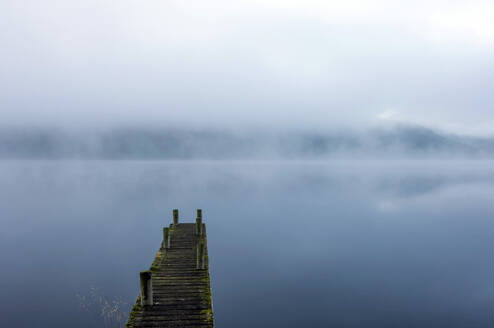 Morning mist, Ullswater, Lake District National Park, UNESCO World Heritage Site, Cumbria, England, United Kingdom, Europe - RHPLF17803