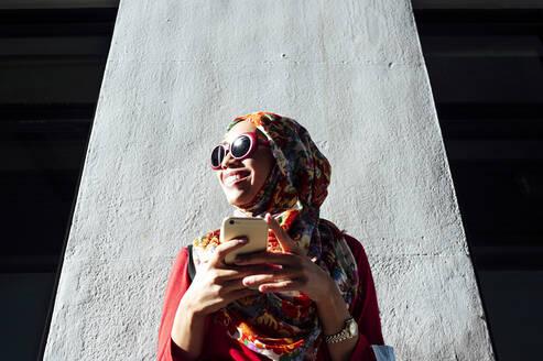 Muslim Malaysian woman in Madrid, Spain - JCMF01617